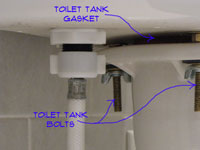 Toilet Tank Gasket and Toilet Tank Bolts