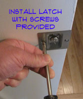 Installing Screws for Pocket Door Latch