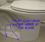 A toilet leaking at the base will only occur when the toilet is flushed. This means that the toilet is leaking dirty water onto your floor.